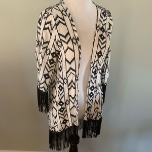 Suzy sheer top beach cover-up shawl size small